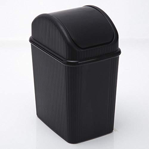Sinzong Desktop Storage Box Plastic Shake Top Prullenbak Zonnebank Afvalmand Opslag Emmer