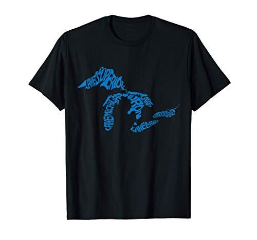 Michigan Love Great Lakes T-Shirt