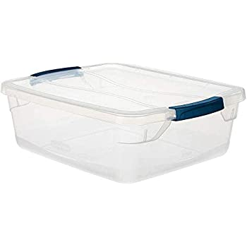 Rubbermaid Cleverstore Clear 16 QT Pack of 6 Stackable Plastic Storage Containers with Durable Latching Clear Lids