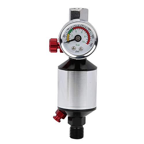 Regulador de filtro de aire, separador de agua de aceite liviano, para manómetro de diafragma 0~10Bar / 0-140Psi