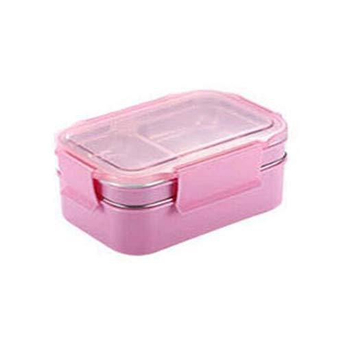 Bento Box Doppio Strato Bento Box Picnic Travel Bento Box Bento Box in Acciaio Inossidabile Grande capacità 1000 ml Senza stoviglie