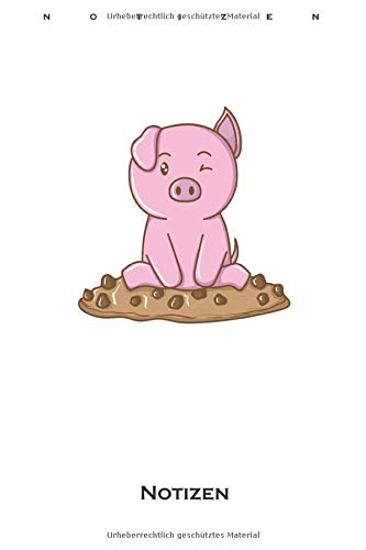Cookies Schweinchen Notizbuch: Liniertes Notizbuch für Naschkatzen und Keksliebhaber