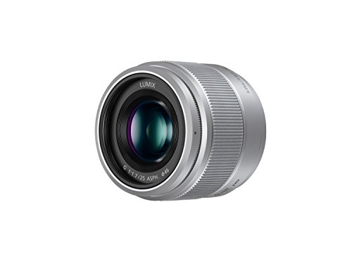 Panasonic Lumix G Micro Four Thirds - Objetivo (Distancia focal de 25 mm, apertura de 1.7, SLR), color plata