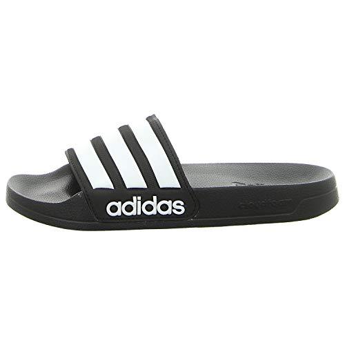 adidas Adilette Shower, Scarpe da Spiaggia e Piscina Uomo, Nero (Cblack/Ftwwht/Cblack Cblack/Ftwwht/Cblack), 42 EU