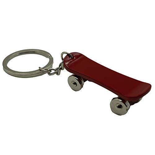 Skateboard Schlüsselanhänger aus Metall Taschenanhänger Fingerskateboard Rot