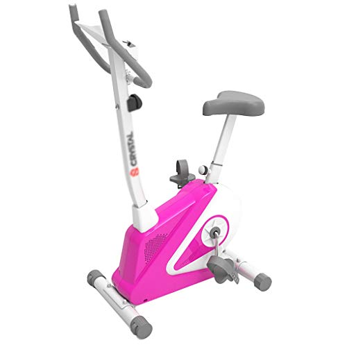 Hometrainers Huis Gewichtsverlies Bikes Crosstrainers Magnetisch Controlled Silent Fitness Apparatuur Indoor Gym Bikes Multi-functie Screens (Color : Pink, Size : 85 * 48 * 132cm)