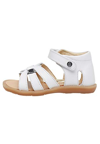 Naturino OSHA-Sandale mit silberfarbenem Herz-Weiß weiß 29