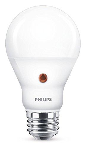 Philips Lampadina LED Goccia 60 W, Sensore Crepuscolare, Attacco E27, 4000K, Non Dimmerabile