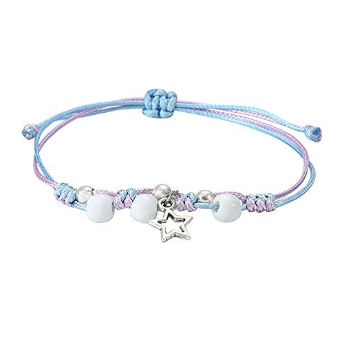 Branets Star & Perles Bracelets Bijoux Réglables pour femmes et filles