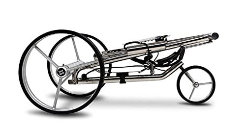 tour-made Haicaddy® HC7S Travel PRO Edelstahl Lithium Elektro Golftrolley - mit elektronischer Bergabfahrbremse (Rahmen gerade) - 2