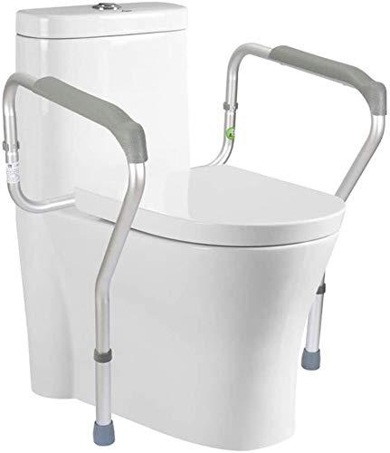 KFS Toilet Safety Rails Frame with Easy Installation, Bathroom Safety Height Adjustable Legs Toilet for Seniors Elderly Disable Handicap Best 0601