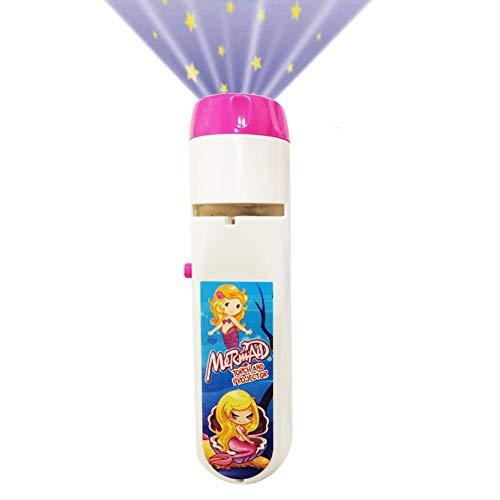LED Kindertaschenlampe Für Mädchen In Pink Inkl. Batterien - Projektionslampe Mit 5 Mausbildern & LED Taschenlampe In Einem - Die Sendung Mit Der Maus Leuchte - Kleine Taschenlampe Kinder