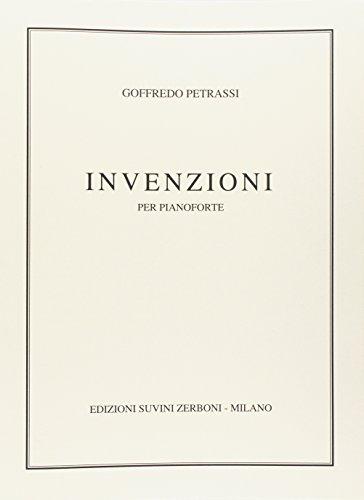 Goffredo Petrassi-Invenzioni (1944) Per Pianoforte (20)-Klavier-SCORE