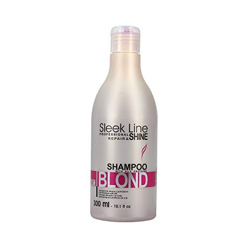STAPIZ SLEEK LINE BLUSH BLOND Shampoo für blondes und rotes Haar, 1er Pack (1 x 300 ml)