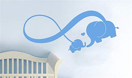 wandaufkleber 3d Wandtattoo Kinderzimmer Unendlichkeitszeichen-Familien-Elefant-Herz-Aufkleber-Kindertagesstätte