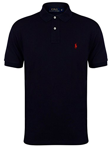 Ralph Lauren - Polo - Uni - Homme Rose rose Large - Bleu - Small
