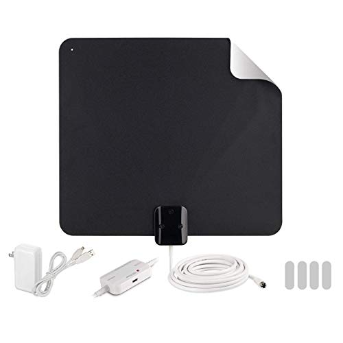 top 10 rca slivr amplified antenna RCA Indoor TV Antenna-Enhanced Digital HD Antenna-Reversible Thin Film Antenna with HDTV …
