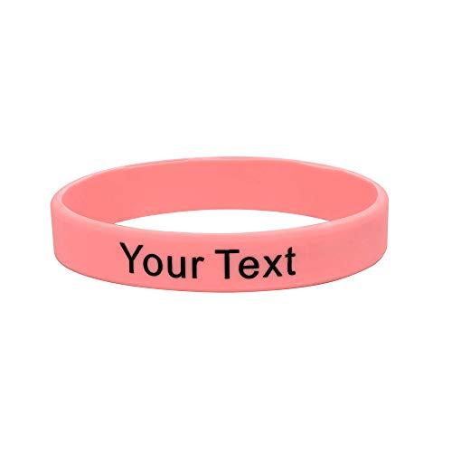 Supcare Personalized Silicone Bracelet for Men Women Boy Girl Birthday Gift Elastic Custom Wristband for Men