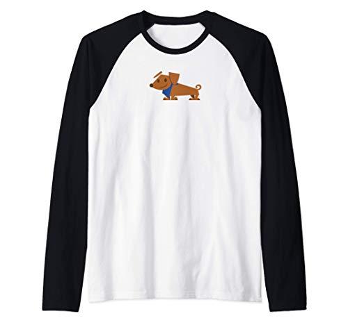 Winston el Perro Lindo Cachorro Dachshund Camiseta Manga Raglan