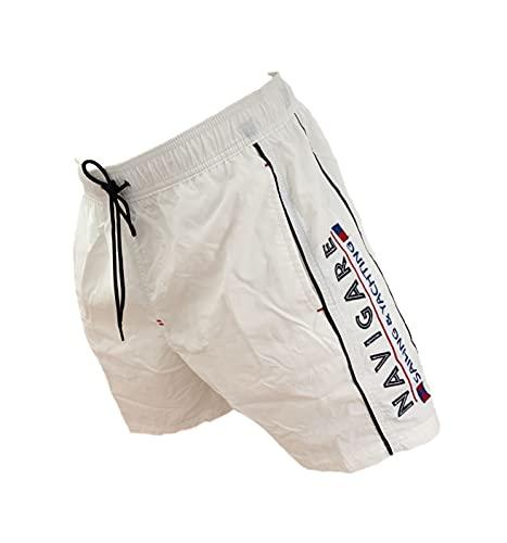 Navigare Boxer Mare Costume Uomo Pantaloncini da Bagno Swim Short Piscina (98350 Bianco, XL)