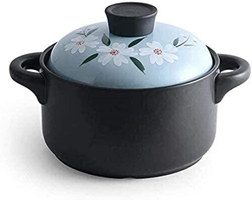 Cazuela de barro de terracota, cazuela de barro de cerámica para conservación del calor, buen aislamiento térmico, ahorro de energía, cazuela que puede hacer sopa