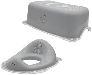 Maltex Baby Toilet Training Seat and Step Stool Set, Grey