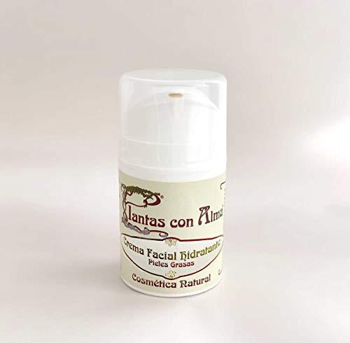 Crema facial reequilibrante para pieles grasas | Ingredientes 100% naturales | Apta para veganos con aceites esenciales