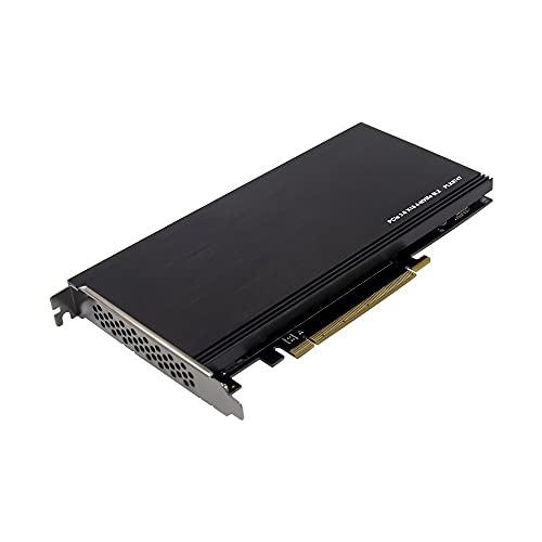 Moye PCIE SSD PCl-E X16 a 4 NVMe Adaptador de Caja de Unidad de Estado sólido 4 Puertos M.2 Ranura para computadora PLX8747 Tarjeta de Matriz de expansión