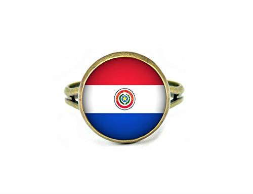 Xubu Nationale Symbool Vlag Sieraden, Paraguay Vlag Ringen, Nationale Vlag Ringen