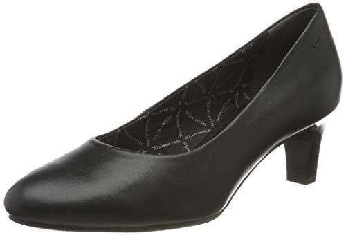 Tamaris Damen 1-1-22420-26 Pumps, Pumps, black leather, 39 EU