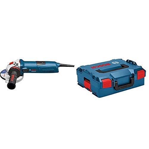 Bosch Professional Winkelschleifer GWS 13-125 (1300 Watt, Leerlaufdrehzahl: 11.500 min-¹) & Koffersystem L-BOXX 136 (Ladevolumen: 14,7 Liter, max. Belastung: 25 kg, Gewicht: 1,9 kg)