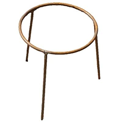 28x30cm Rust Iron Stand - Garden Fire Pit Water Bowl Trivet Wood Burner Accessory Legs by Round Wood