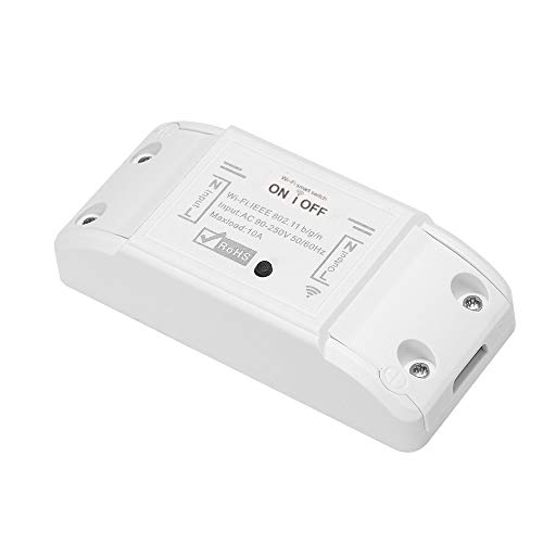 Tuya WiFi Smart Switch 10A / 2200W Interruptor remoto inalámbrico Temporizador APP Control Universal Smart Home Automation Module Control de voz
