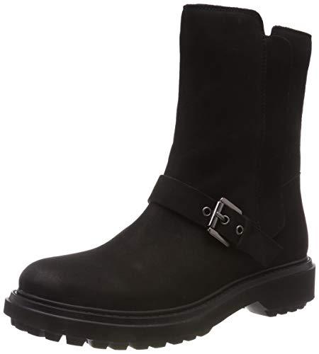 Geox Damen D ASHEELY D Biker Boots, Schwarz (Black C9999), 40 EU