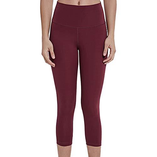 YUPENG Yoga Leggings Damen Leggings 3/4 High Waist Blickdichte Sporthose Hohe Taille Gym Leggings Bauchweg Yogahose für Fitness Joggen S(4)