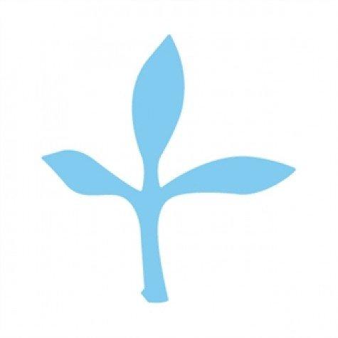 CARL Carla Große Verdure (2,5 cm Ausschnittform) Karte Papier Craft Stanzer Scrapbooking Pflanzensammlung Blau One Size