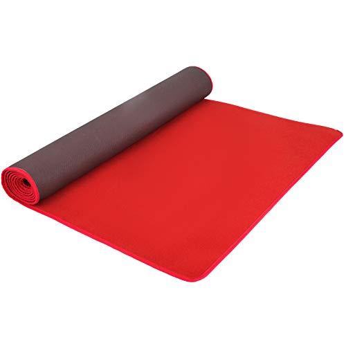 VEVOR Alfombra Roja 1.2x3M Moqueta Roja 3.9x9.8ft Alfombras para Eventos Alfombras para Bodas Alfombras para Pasillo para Actividades Exteriores Decoracion Boda Antideslizante Alfombra