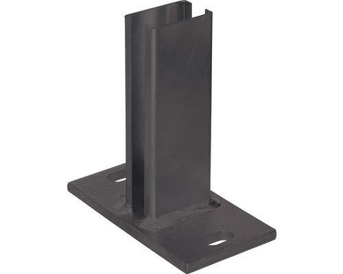 Pfostenträger für Zaunpfosten Dübelplatte Pfostenschuh Bodenplatte (Anthrazit RAL 7016)