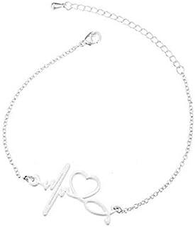 Silver Bracelet pulse And Earphone For Women