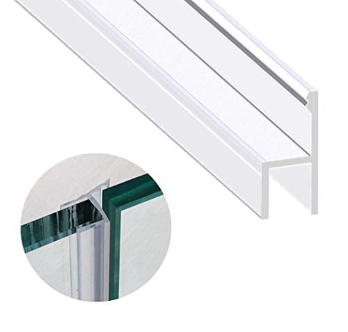 Zengest Glass Door Seal Strip, 120 Inch Soft Shower Door Sweep to Stop Leaks, Shower Silicone Seal Strip