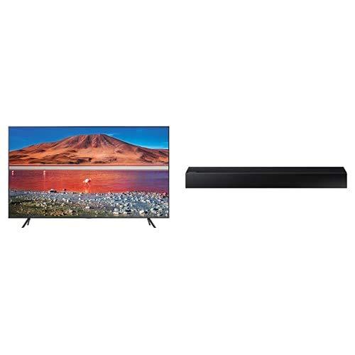 "Samsung TV UE50TU7190UXZT Smart TV 50"" Serie TU7190, Crystal UHD 4K, Wi-Fi, 2020,Argento + HW-N300/ZF Soundbar con 4 Altoparlanti, 2 Canali, Audio Remote App, Bluetooth, 55 Hz ~ 20 kHz, Nero"
