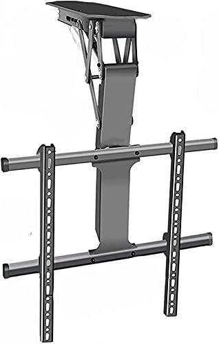 WXHHH Soporte Universal para TV de Techo 32'-70' Suspensión de elevación eléctrica Inteligente Cilindro de Brazo Giratorio Se inclina Soportes de TV (Color: Negro)