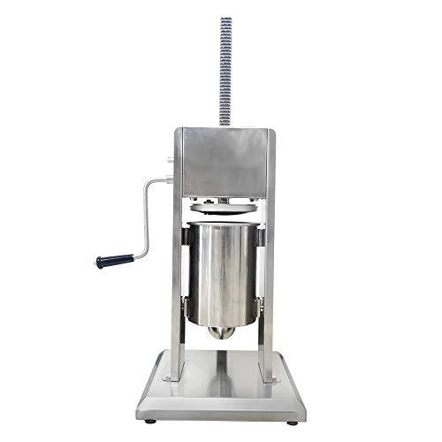 LARS360 Machine à Saucisses Poussoir à Saucisses Remplissage de Saucisse en Alliage d'Aluminium avec 4x Tubes (Ø 6/22/32/38 mm) en Acier Inoxydable (3 Litre)
