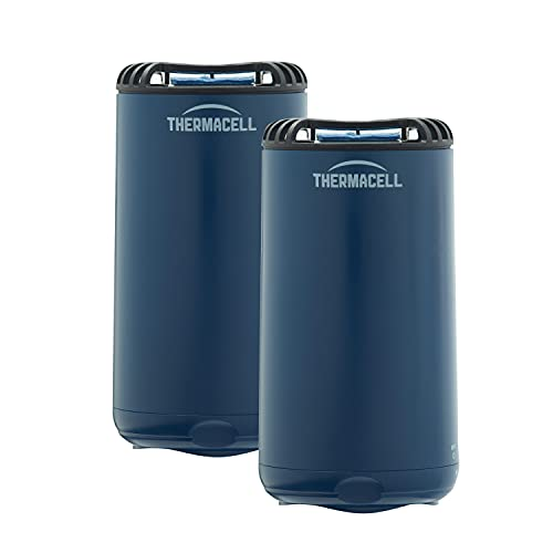 Thermacell Patio Shield Mosquito Repeller 2-Pack, Navy; Includes 24 Hours of Refills; Effective Mosquito Repellent for Patios; No Candles or Flames, Scent-Free, Bug Spray/DEET Alternative