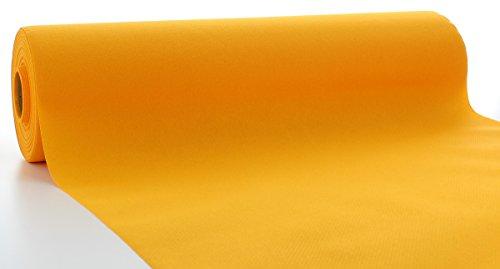 Sovie HORECA Linclass® Airlaid Tischläufer 40cm x 24 m | Tischdecken-Rolle stoffähnlich | praktische Einmal-Tischdecke für Hochzeit oder Partys | Curry-Orange