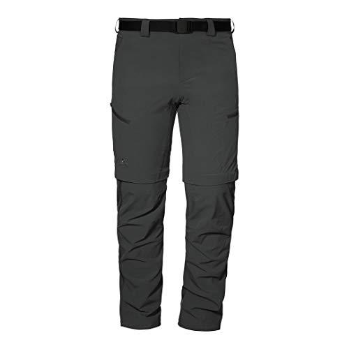Schöffel Damen Pants Cartagena3 Zip off Trekkinghose aus k hlendem 4 Wege Stretchmaterial funktionale Wanderhose mit intelligentem, Asphalt, 38 EU