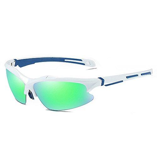 Belleashy Gafas de ciclismo para hombre, polarizadas, UV400, protección semicirria, duradera, para conducir, ciclismo, correr, pesca, golf (color C3)