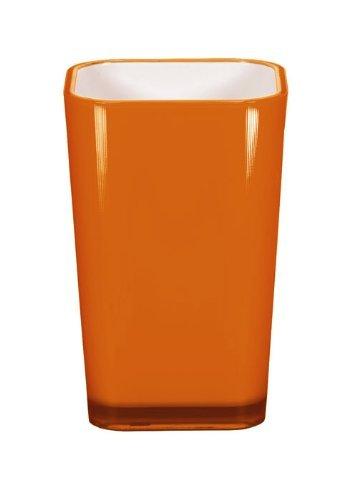 Kleine Wolke 5061488852 Easy Gobelet à Dents Plastique Orange 40 x 30 x 10 cm