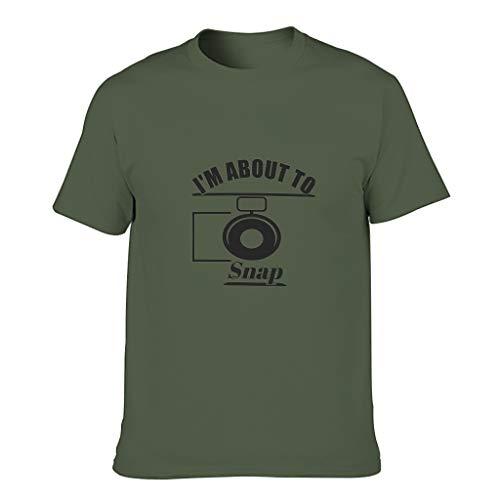 Camiseta de algodón para hombre, diseño con texto en inglés 'I'm About to Snap'