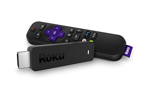 Roku Streaming Stick | Portable; Power-PackedStreaming Devicewith Voice Remote with Buttons for TV Power and Volume (2018)